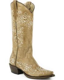 Roper Women's Floral Bouquet Stitched Western Boots, , hi-res