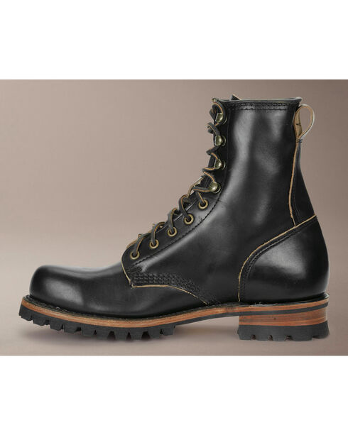 Frye Men's Logger Boots, Black, hi-res