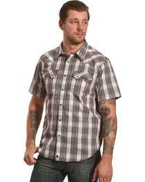 Cody James Men's Plaid Short Sleeve Snap Shirt  - Big & Tall, , hi-res