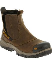 Caterpillar Men's Brown Jointer Waterproof Work Boots - Composite Toe , , hi-res