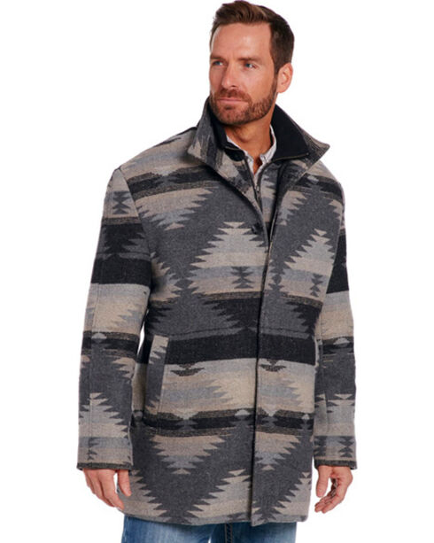 Cripple Creek Men's Grey Navajo Blanket Coat , Grey, hi-res