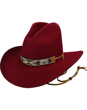 Bailey Men's Red Western Hickstead Cowboy Hat , Red, hi-res