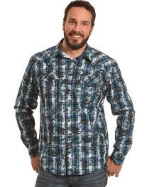 Moonshine Spirit Men's Tattoo Paisley Plaid Western Shirt, , hi-res