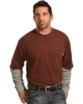 Wolverine Men's Red Miter II Long Sleeve Tee , Red, hi-res