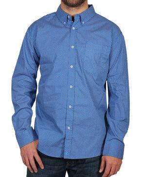 Cody James® Men's Sunburst Long Sleeve Shirt, Blue, hi-res