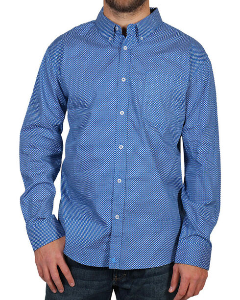 Cody James® Men's Sunburst Long Sleeve Shirt, Blue, hi-res