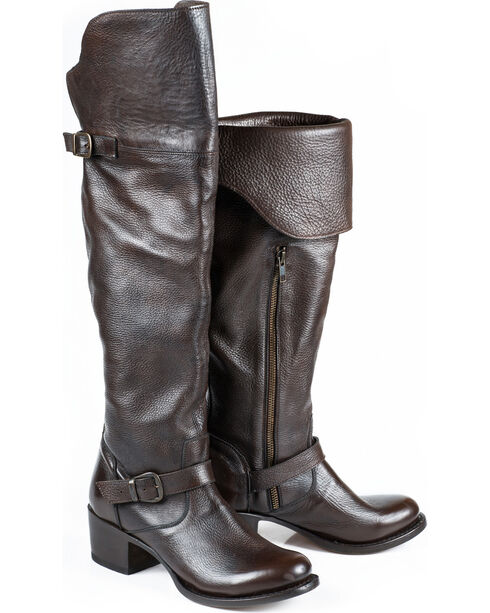 Stetson Women's Bianca Over The Knee Western Boots, Brown, hi-res
