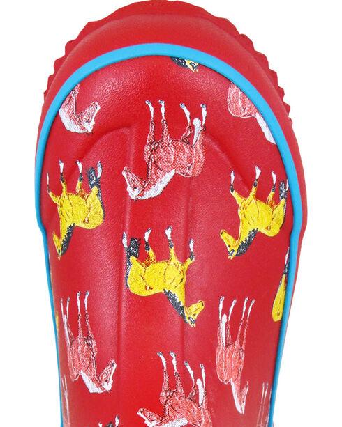 Smoky Mountain Girls' Horsin' Around Waterproof Boots, Red, hi-res