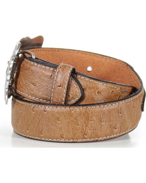 Cody James Kid's Overlay Western Belt, Brown, hi-res
