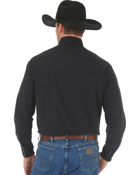 Wrangler George Straight Men's Troubadour Long Sleeve Shirt , Black, hi-res