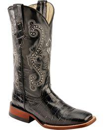 Ferrini Women's Gator Print Western Boots, , hi-res