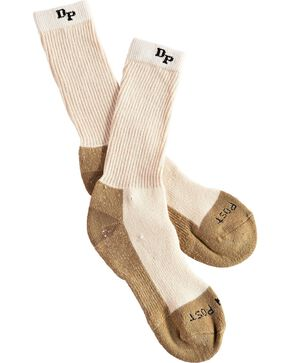 Dan Post Men's 2 Pack Mid-Calf Steel Toe Work & Outdoor Socks, Natural, hi-res