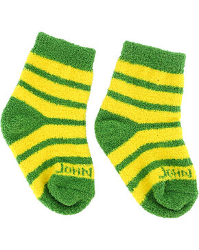 John Deere Infant Striped Socks, Yellow, hi-res