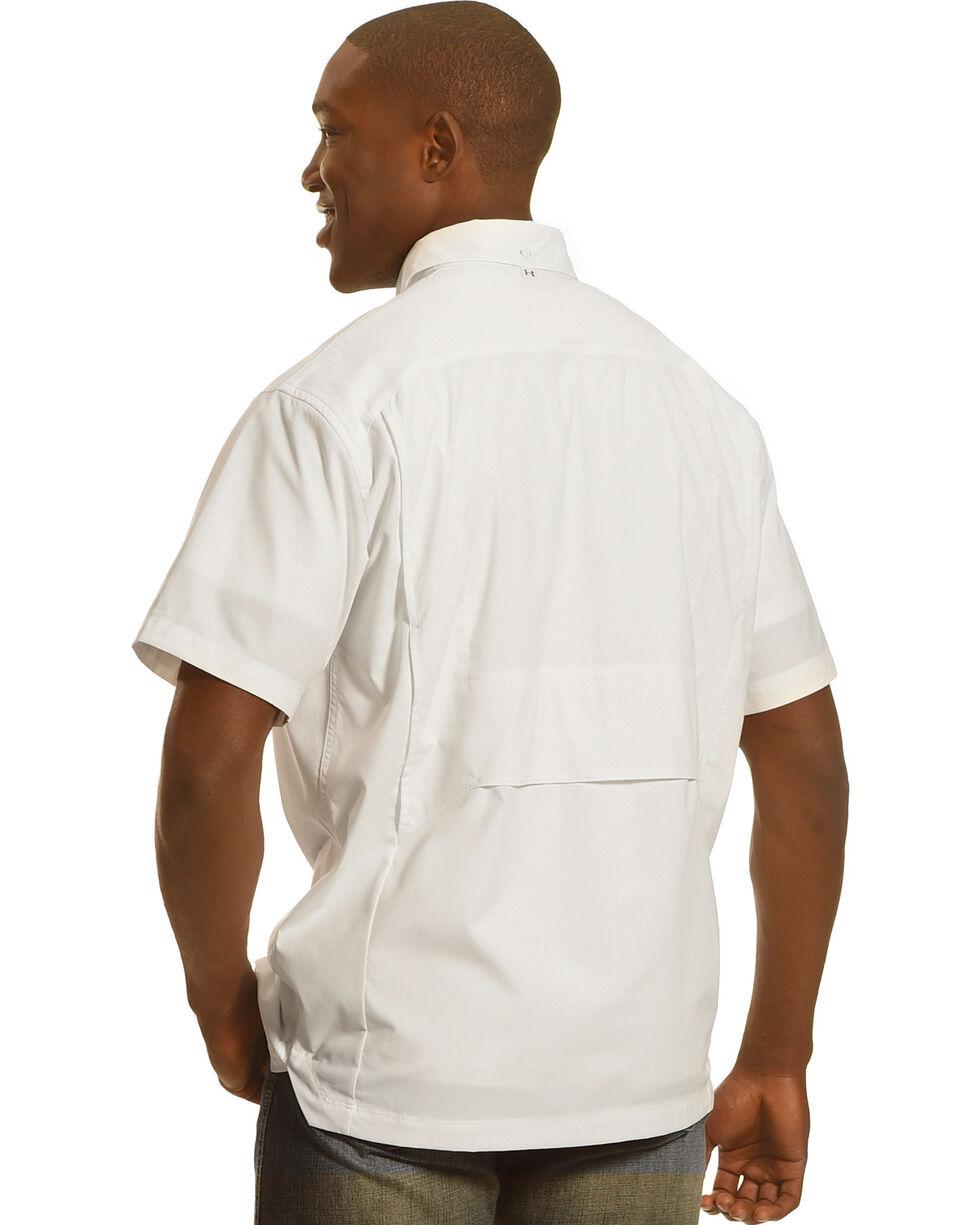 Under Armour Men's Fish Hunter Short Sleeve Shirt , White, hi-res
