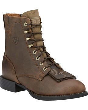 Ariat Women's Heritage Lacer II Western Boots, Brown, hi-res
