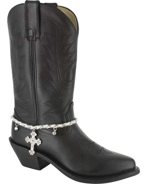 Shyanne® Women's Silver Cross Boot Bracelet, Silver, hi-res