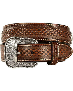 Ariat Men's Aztec Concho Belt, Natural, hi-res
