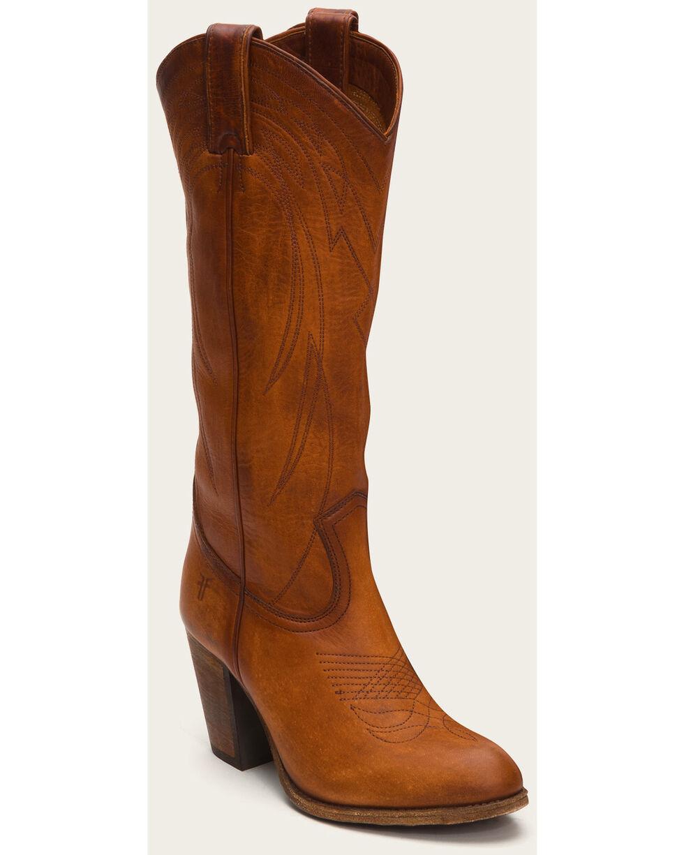 Frye Women's Cognac Ilana Pull On Boots - Medium Toe , Cognac, hi-res