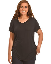 Derek Heart Women's Deep V-Neck Oversize Tee - Plus Size, , hi-res