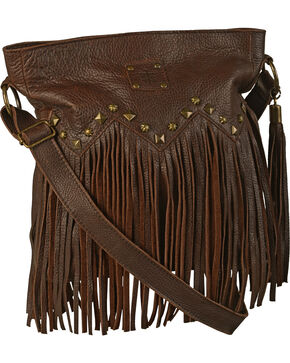 STS Ranchwear Women's Boho Studded Crossbody Bag, Dark Brown, hi-res