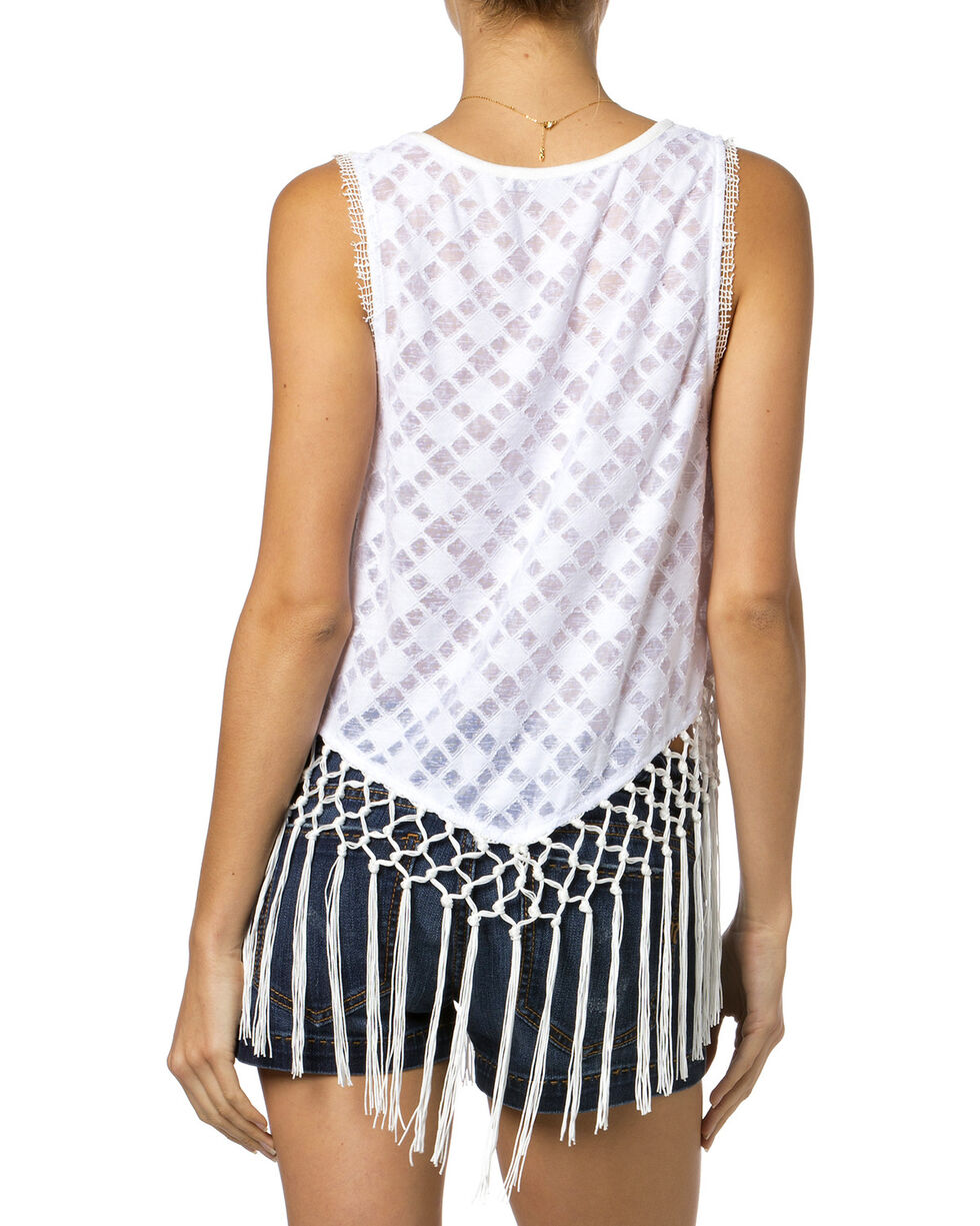 Miss Me Women's Light as a Feather Tank, Off White, hi-res