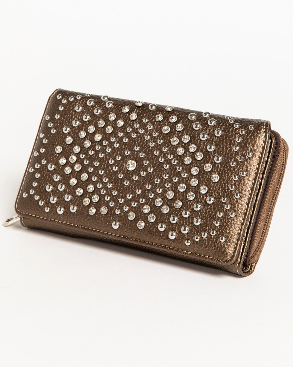 Shyanne Women's Metallic Bling Wallet , , hi-res
