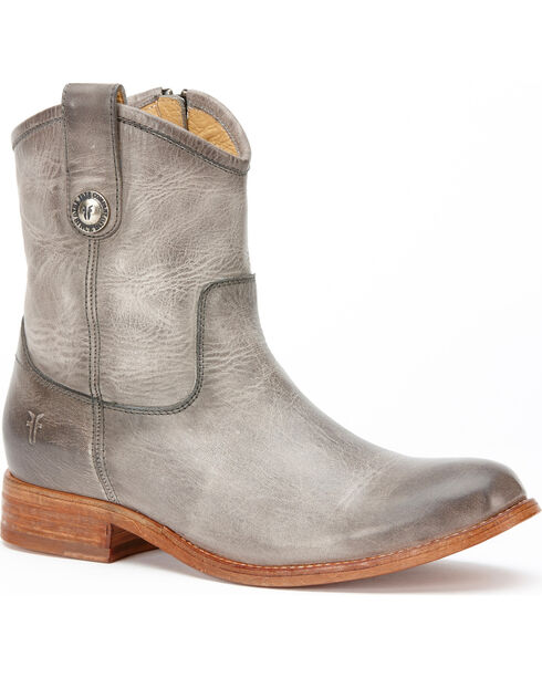 Frye Women's Ice Melissa Button Short Boots - Round Toe , Light Grey, hi-res