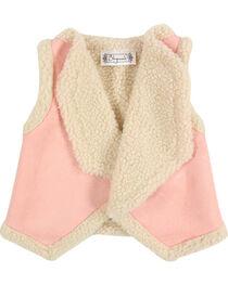 Shyanne® Toddler Girls' Lapel Sherpa Vest, , hi-res