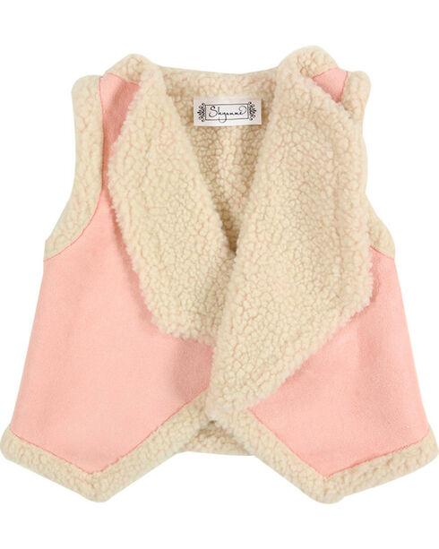 Shyanne® Toddler Girls' Lapel Sherpa Vest, Pink, hi-res