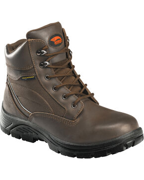 Avenger Women's Lace Up Composite Toe Work Boots, Brown, hi-res