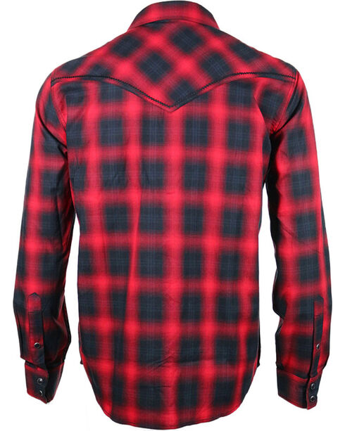 Cody James® Men's Red Sky Plaid Long Sleeve Shirt, Red, hi-res