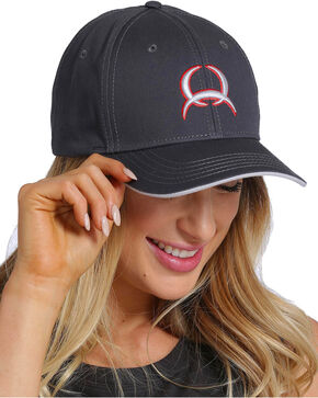 Cinch Women's Charcoal Twill Cap , Charcoal, hi-res