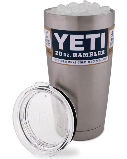 Yeti 20 Oz. Rambler Tumbler, Silver, hi-res