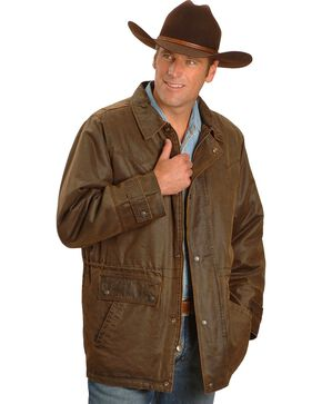 Outback Unisex Water Resistant Ranchers Jacket, Brown, hi-res