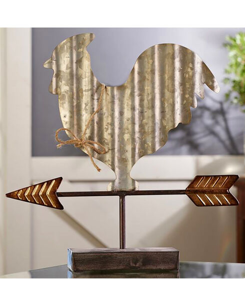 Giftcraft Metal Rooster Weather Vane Design Table Decor , Steel, hi-res
