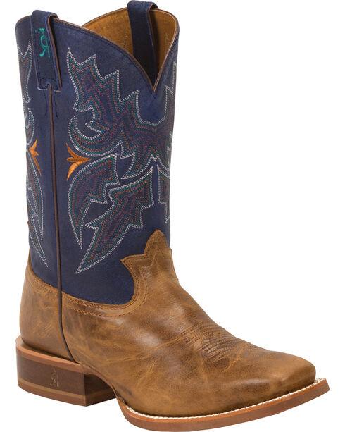Tony Lama 3R Men's Honey Sierra Stockman Boots, Honey, hi-res