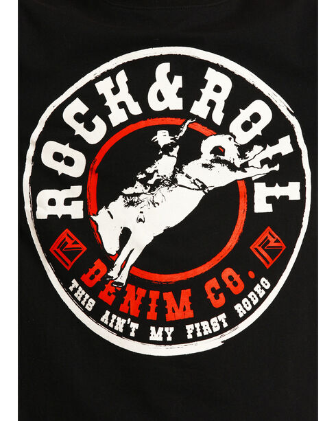 Rock & Roll Cowboy Boys' Rodeo Long Sleeve Tee, Black, hi-res