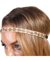 Shyanne® Women's Gold Beaded Headband, , hi-res