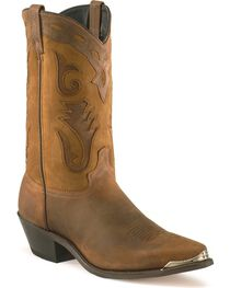 Sage Boots by Abilene Men's Two-Tone Cutout Western Boots, , hi-res