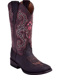 Ferrini Women's Studded Cowgirl Boots - Square Toe , , hi-res
