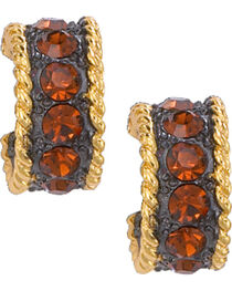 Montana Silversmiths Topaz Crystal Shine Hoop Earrings, , hi-res