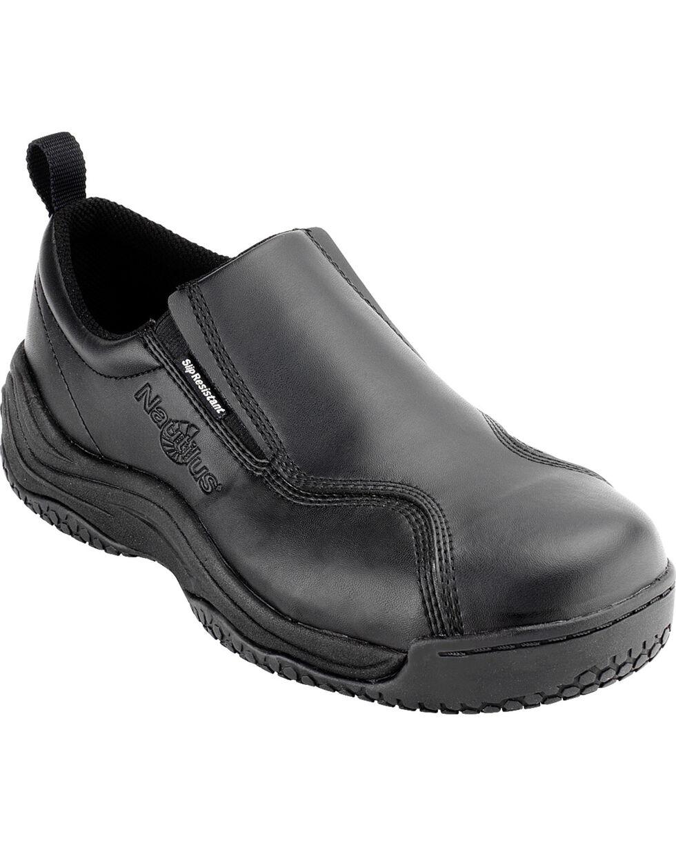 Nautilus Women's Composite Safety Toe Slip On Work Shoes, Black, hi-res