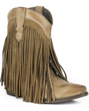 Roper Women's Dylan Western Boots - Snip Toe , Tan, hi-res