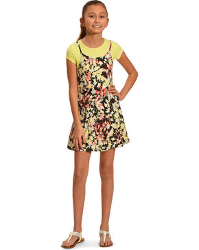 Derek Heart Girls' Yellow Tank Swing Dress , Yellow, hi-res