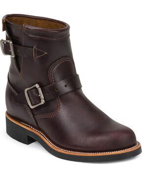 "Chippewa Women's  7"" Engineer Boots, Cognac, hi-res"