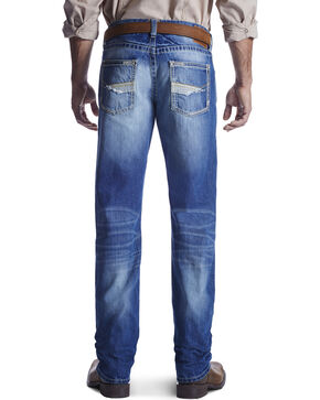 Ariat Men's M5 Low Rise Straight Leg Jeans, Med Blue, hi-res