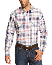 Ariat Men's White FR Duke Work Shirt - Big and Tall, , hi-res