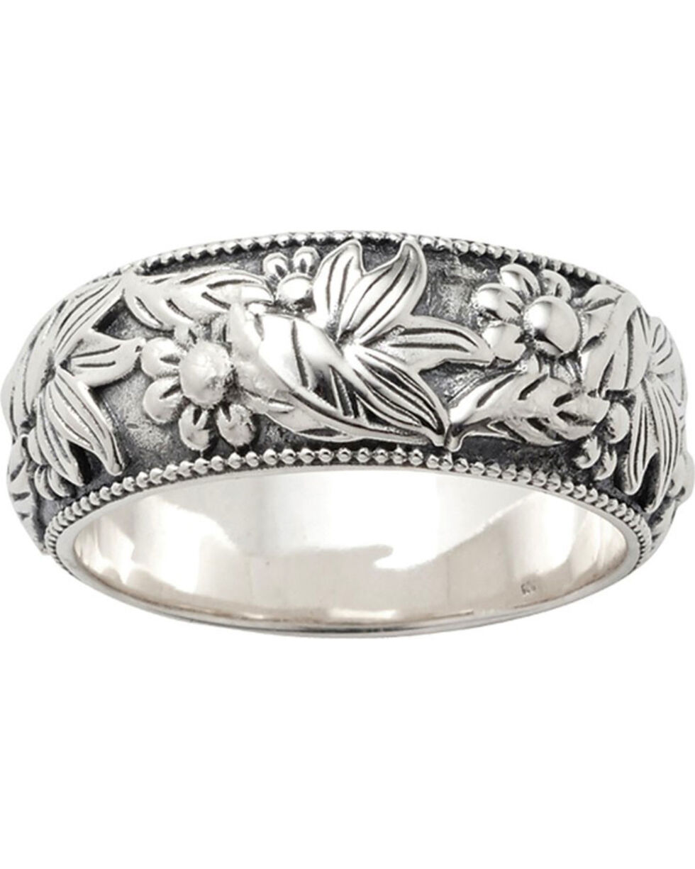 Sterling Lane Women's Wild Flower Ring , Silver, hi-res