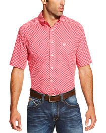 Ariat Men's Check Patterned Button Down Short Sleeve Shirt, , hi-res