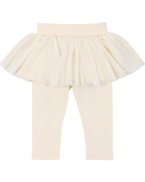 Wrangler Toddler Girls' Tulled Skirt With Leggings, White, hi-res
